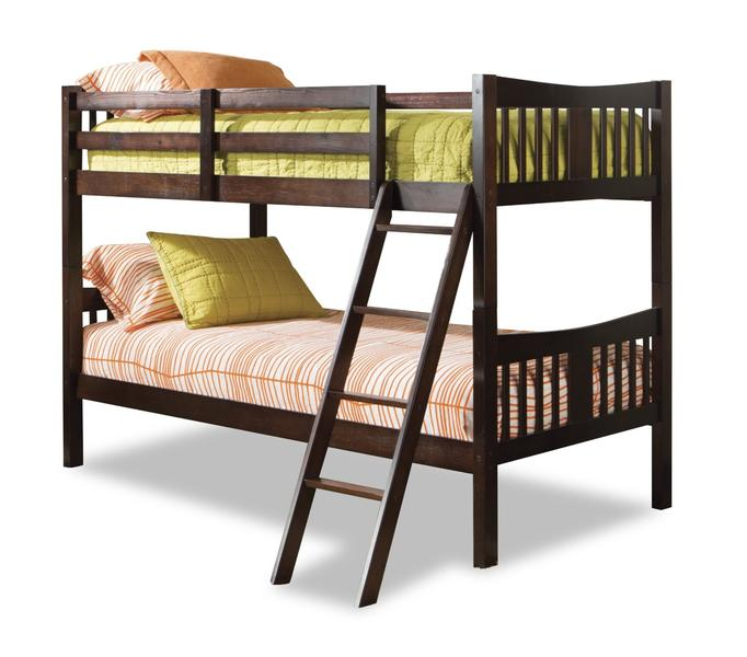 Stork Craft Caribou Bunk Bed, Espresso: Furniture & Decor