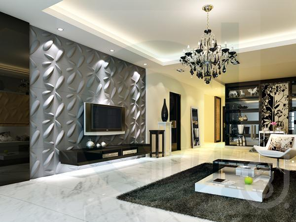 3d Wall Surface Decoration 3d Tv Setting Wall Wave Panels
