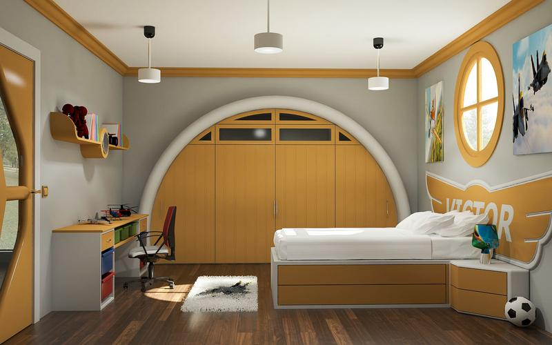Kids Room Design - Aircraft