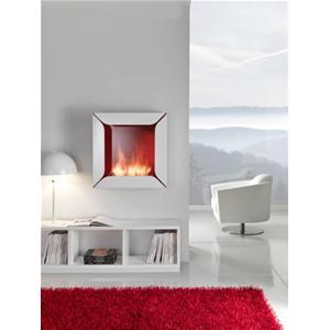 BIO FIREPLACE FLOWER by PAOLO GRASSELLI - FINISH: GLASS - RED - HORUS - Dabirstore Italian Design Shopping