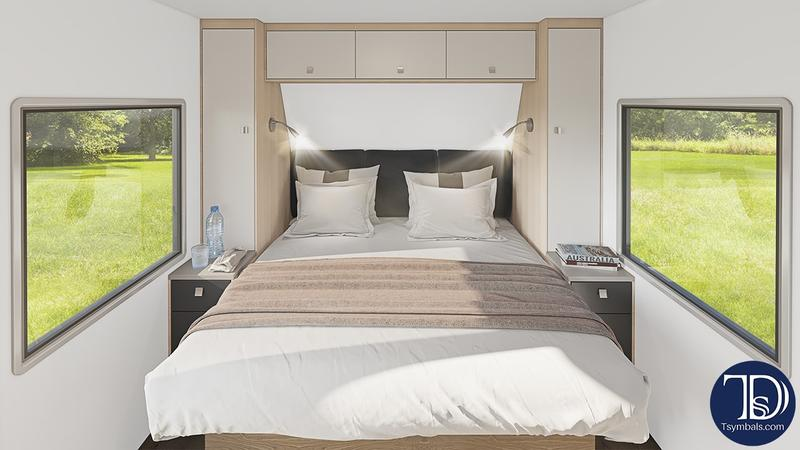Travel trailer interior visualization