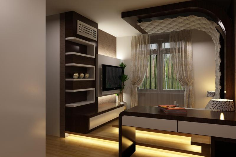 Modern bedroom designs attached study and walk in closets for Bedroom designs with attached bathroom and dressing room