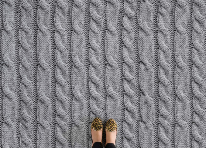 Aran - Grey Knit Effect Flooring