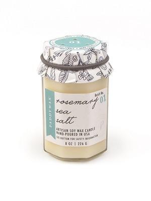 Rosemary Sea Salt - Paddywax Farm To Table Soy Candle - 8oz | Brava Home Decor