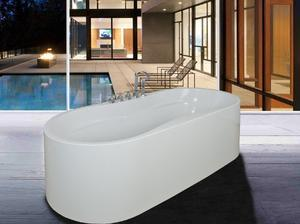 Golden Vantage Bathroom Freestanding Bathtubs Acrylic Bath Tub With Faucets