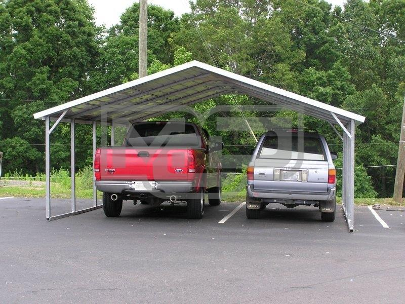 Double Metal Carports for your Vehicles available at Metal Carports Direct