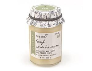 Mint Leaf Cardamom - Paddywax Farm To Table Soy Candle - 8oz | Brava Home Decor