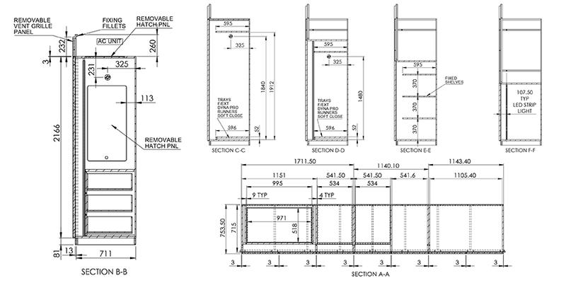 Millwork Shop Drawing for Wardrobe