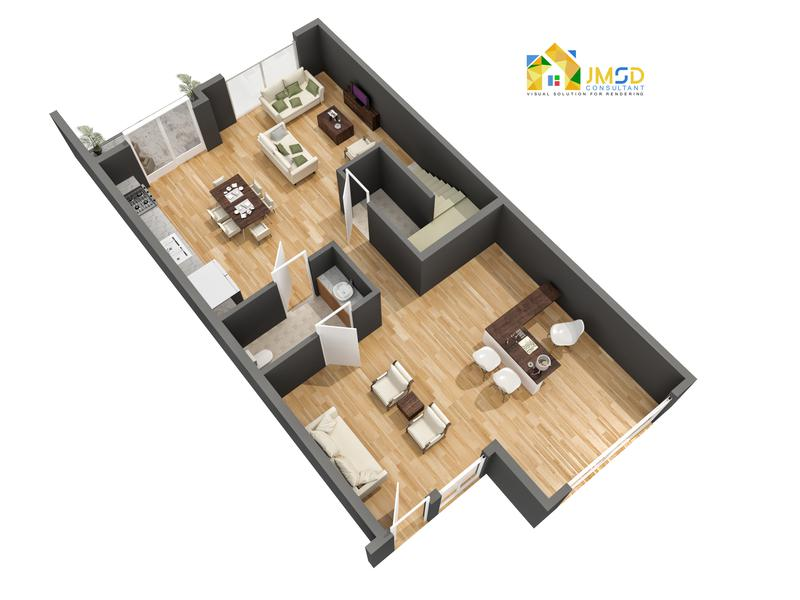 Residential 3D Floor Plan Visualization Services