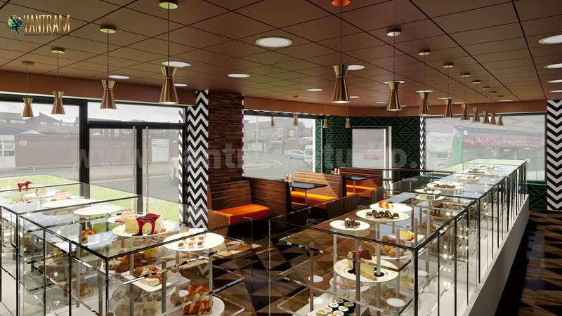 Attractive Mansha Sweet Center Design By Yantram Interior Architectural Modeling Firm, Rome - Italy