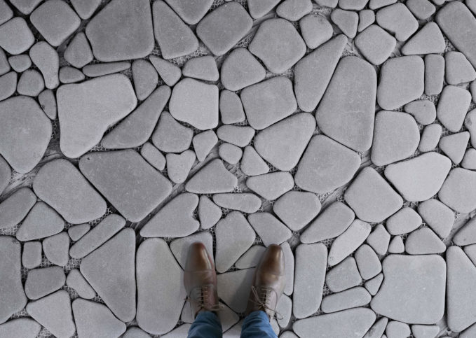 Stepping Stones - Stone Paving Vinyl Flooring