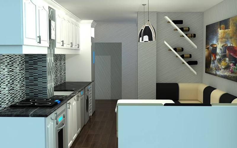 I Will Create Realistic 3D Rendering for Kitchen Design