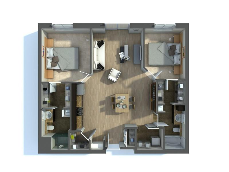 Real Estate 3D Floor Plan Renderings Services Los Angeles, CA
