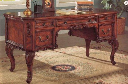 Beautiful Molding Traditional Style Home Office Writing Desk