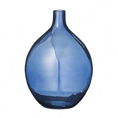 Bloomingville Transparent Glass Vase Navy