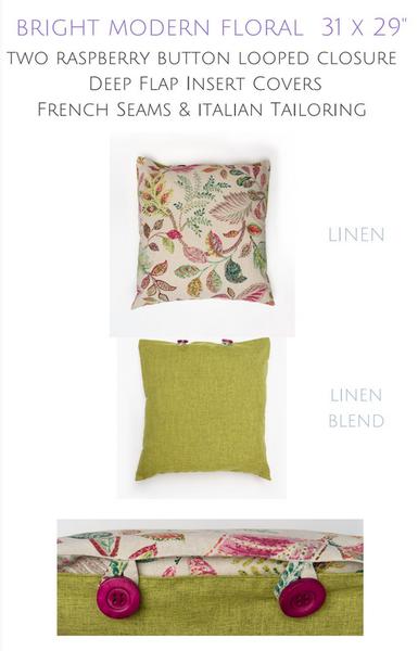 "Bright Modern Floral - 31x29"""