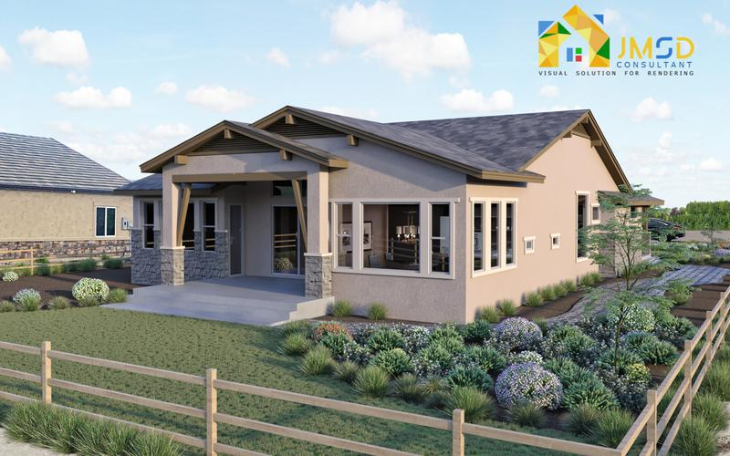 3D House Rendering Visualization Project in Aurora Colorado