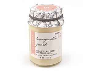 Honeysuckle Peach - Paddywax Farm To Table Soy Candle - 8oz | Brava Home Decor