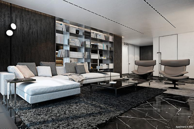 Stylish Black Rooms