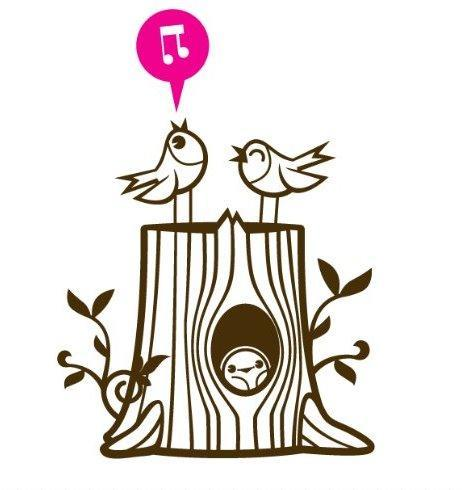 Bird Family Wall Decal