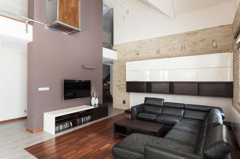 . Partition Wall Designing with Wood  Stone  Glass Bricks  and Mirrors