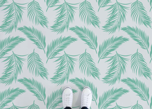 Hawaii - Green Tropical Leaf Vinyl Flooring