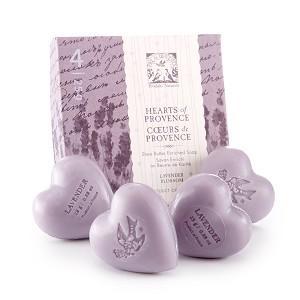 Lavender - Pre de Provence French Soap - Hearts of Provence Gift Box -  4 x 25g | Brava Home Decor