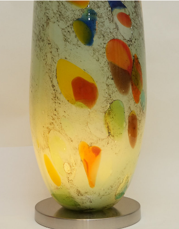 table lamp - blown art glass