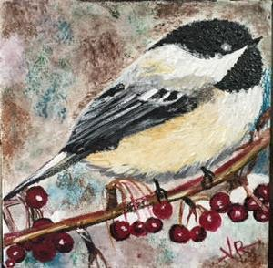 Bird Painting  - Acrylic Canvas Painting