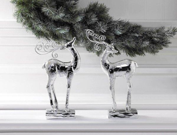 Silver Dasher Reindeer Statue Silver Dasher Reindeer Statue