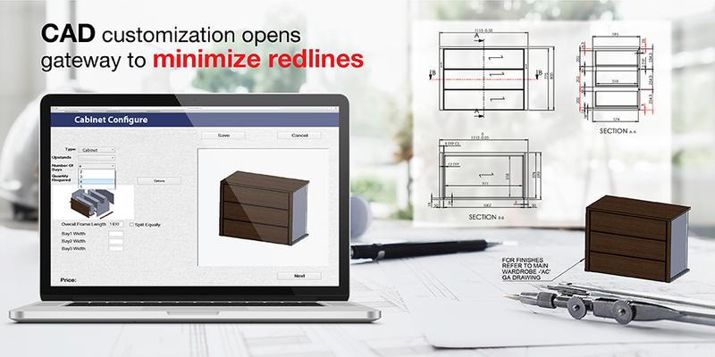 Reducing Red Lines in Cabinet Making with Custom CAD Configurator