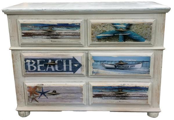 Beach Dresser White Chic Finish – Echo and Ben Artisan Decor