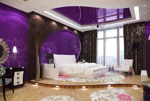 purple bedroom design by dream houzz