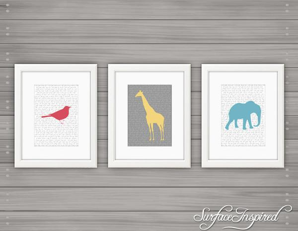 Nursery wall art print Safari custom baby print by Surface Inspired -  | Surface Inspired Wall Decals