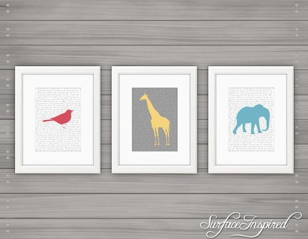 Nursery wall art print Safari custom baby print by Surface Inspired -  | Surface Inspired Wall Decals
