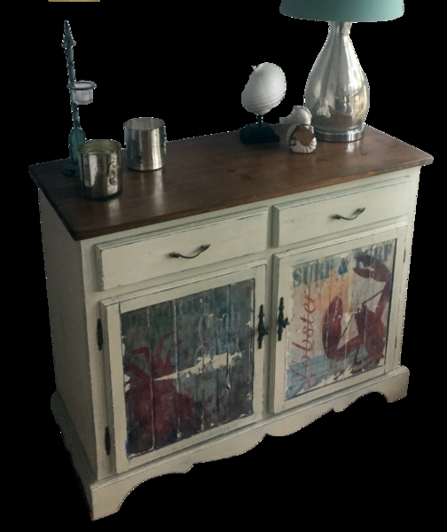 Beach Accent Cabinet / Chest - Lobster and Crab Furniture – Echo and Ben Design Shop