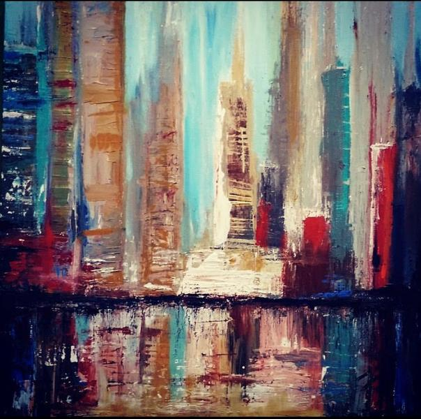 The Cityscape - Abstract Acrylic Painting