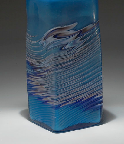 Decorative art glass - HANDBLOWN GLASS - Blue