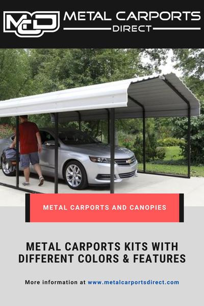 Get Metal Carports Kits with Different Colors and Features