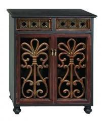 "Benzara Wood Wine Cabinet 37""High"