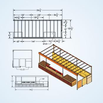 Millwork Shop Drawings for USA Client