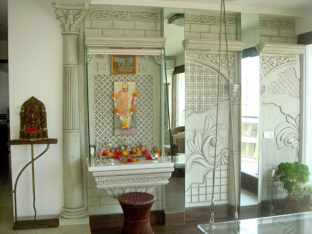 Puja room in modern indian apartments choose your pooja room for Small apartment interior design india