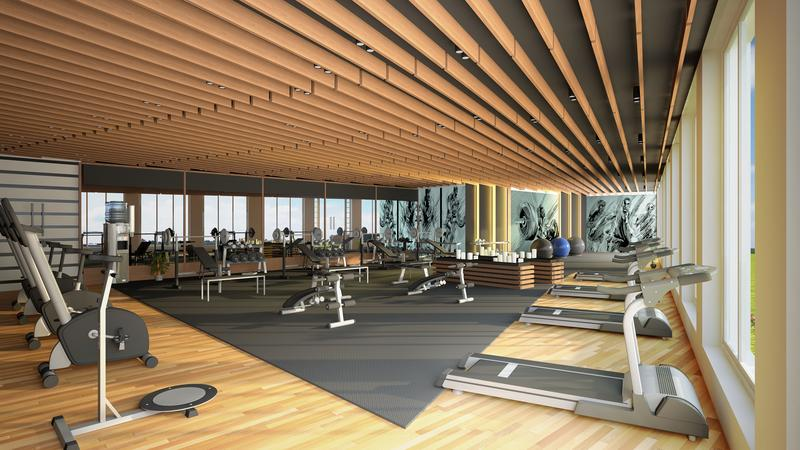 3D Interior Design Rendering for GYM San Diego California