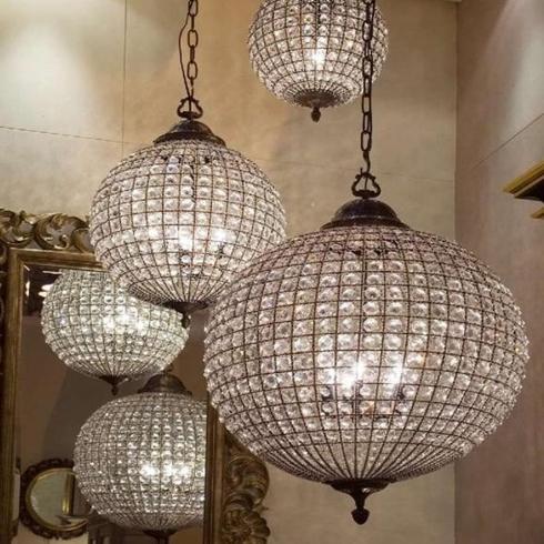 Brass Crystal Chandelier Pendant Lamp | Small Medium Large Sizes