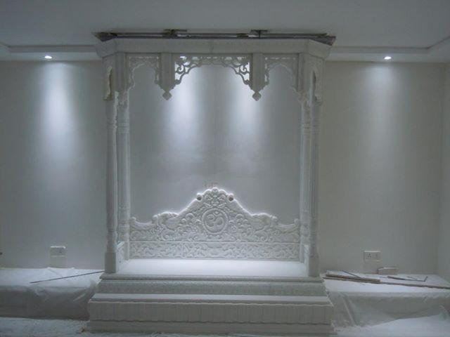Puja room in modern indian apartments choose your pooja room for Marble temple designs for home