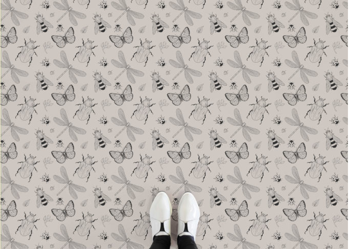 Fabre - Insect Pattern Vinyl Flooring