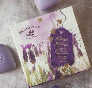 Lavender - Pre de Provence French Soap - Hearts of Provence Gift Box - 4 x 100g | Brava Home Decor
