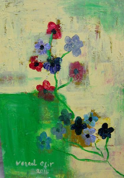 Japanese Flower Acrylic On Canvas 50x70cm