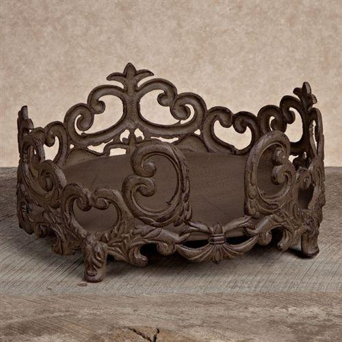 Dinner Plate Holder, Brown Metal