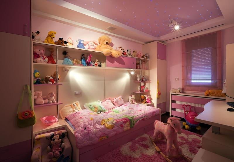 Room Filled With Soft Toys : Kids room decorate with soft toys plush and